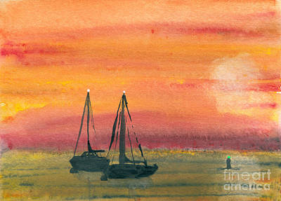 Harbor Colors Art Print by R Kyllo