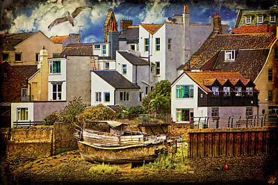 Port Town Digital Art - Harbor Houses by Chris Lord