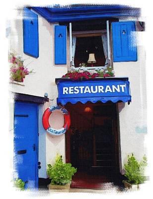 Devon Mixed Media - Harbor Lights Restaurant Devon by Gra Howard
