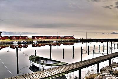 Harbor  Lindhs Hamn I Art Print by Miso Jovicic