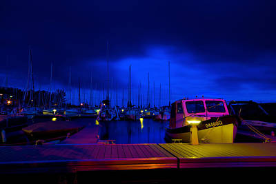 Harbor Nights Art Print