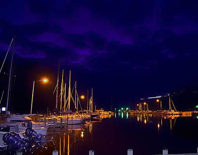 Photograph - Harbor Nights by Kelly Reber