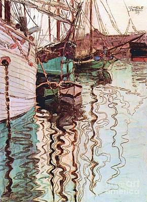 Harbor Of Trieste Art Print by Pg Reproductions