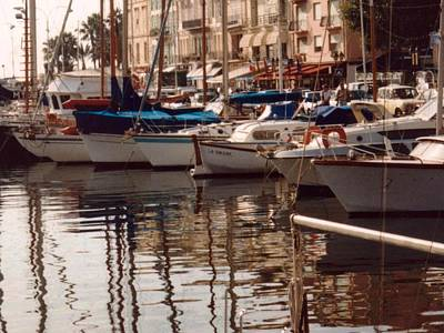 Mediterranean Basin Photograph - Harbor Reflections by Katherine Shemeld