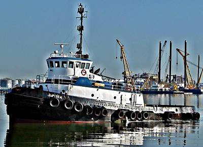 Photograph - Harbor Tug by John Collins