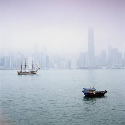 Harbor View, Hong Kong, China Print by Brian Caissie