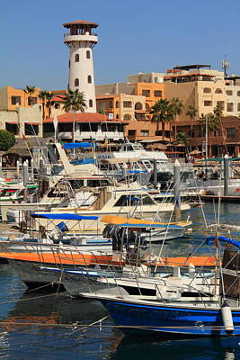 Lighthouse Photograph - Harbor Waterfront In Cabo San Lucas by Roupen  Baker