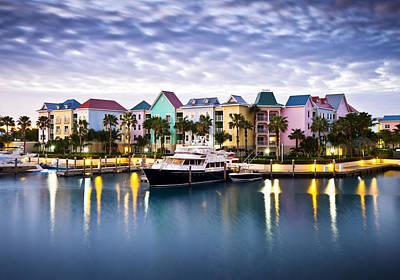 Harborside Resort At Dawn - Paradise Island Nassau Bahamas Art Print by Dave Allen
