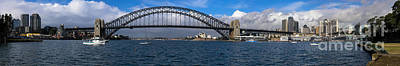 Photograph - Harbour Bridge Panorama by Fran Woods