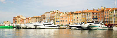 Harbour, St. Tropez, Cote D'azur, France Art Print by John Harper