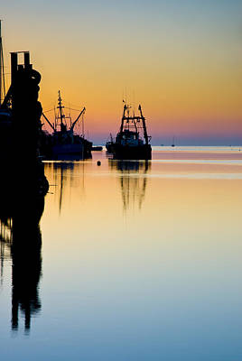 Art Print featuring the photograph Harbour Sunrise by Trevor Chriss