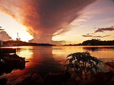 Photograph - Harbour Sunset by Daniel Marcion