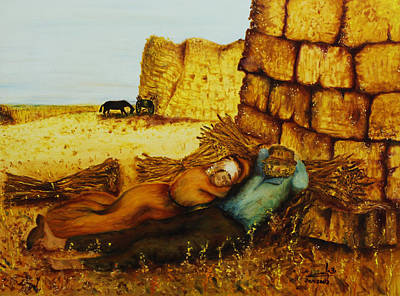Hard Labor Fatigue Art Print by Itzhak Richter