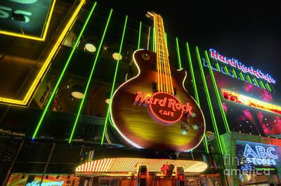 Photograph - Hard Rock Cafe - Las Vegas by Yhun Suarez
