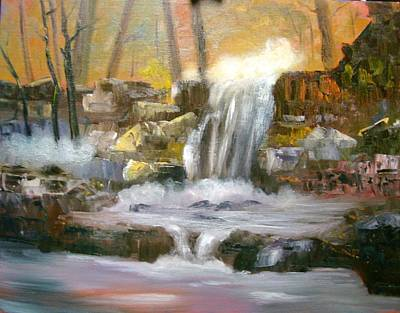 Hard Rock Falls Art Print
