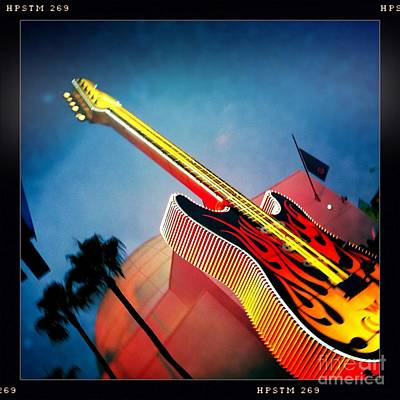 Art Print featuring the photograph Hard Rock Guitar by Nina Prommer