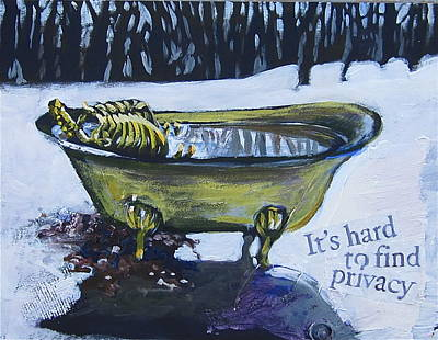 Print featuring the painting Hard To Find Privacy by Tilly Strauss