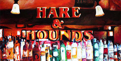 Wa Painting - Hare And Hounds by Marti Green