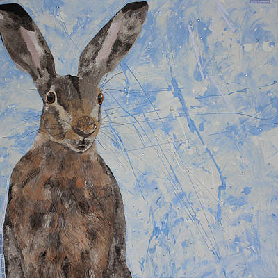 Snowstorm Mixed Media - Hare In A Snowstorm  by Claire  Milner