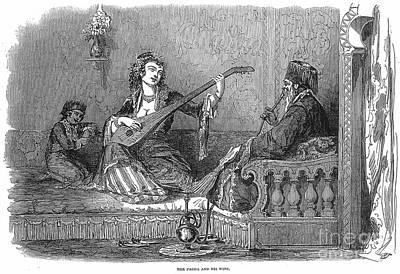 Harem: Pasha And His Wife Art Print
