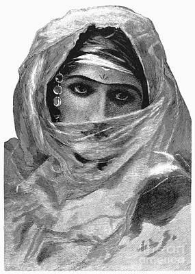 Harem Woman, 19th Century Art Print by Granger