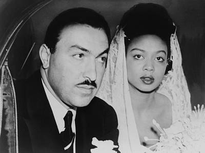Harlem Congressman Marries Jazz Singer Art Print by Everett