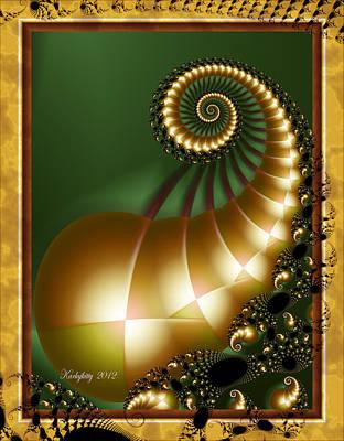 Harlequin Spirals Art Print