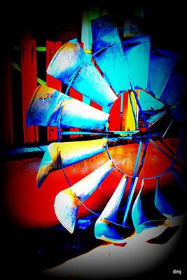 Harlequin Wind  Art Print by Diane montana Jansson