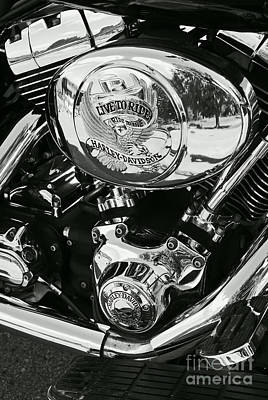 Photograph - Harley Davidson Bike - Chrome Parts 02 by Aimelle