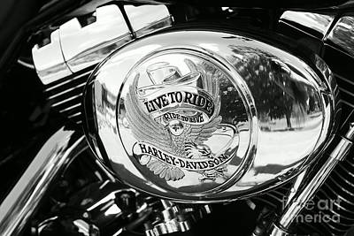 Photograph - Harley Davidson Bike - Chrome Parts 22 by Aimelle
