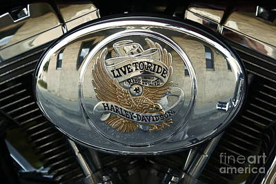 Photograph - Harley Davidson Bike - Chrome Parts 44c by Aimelle