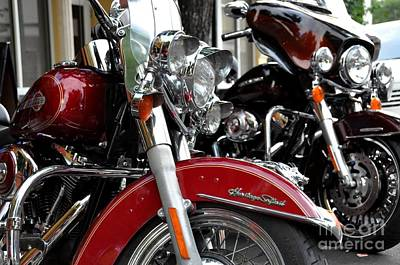Photograph - Harley Davidson Row by John Black