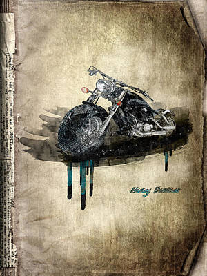 Collectables Mixed Media - Harley Davidson by Svetlana Sewell