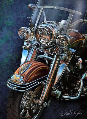 Harley Davidson Ultra Classic Art Print by David Kyte