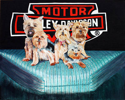 Painting - Harley Dogs by Carolyn Ardolino
