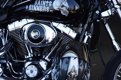 Photograph - Harley Engine by Jeff Lowe