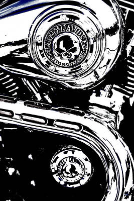 Art Print featuring the photograph Harley Skulls by Randall  Cogle