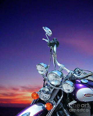 Digital Art - Harley Sunset by Lizi Beard-Ward