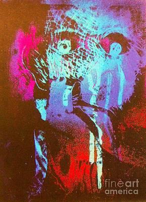 Harmonica Man 4 Art Print