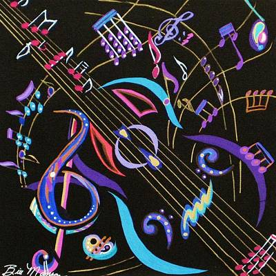 Painting - Harmony In Guitar by Bill Manson