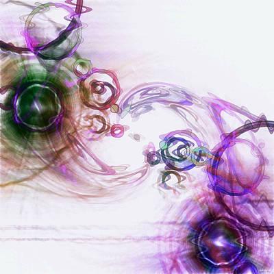 Abstract Movement Digital Art - Harmony by Linda Sannuti