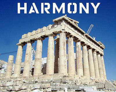 Photograph - Harmony Motivational by John Shiron