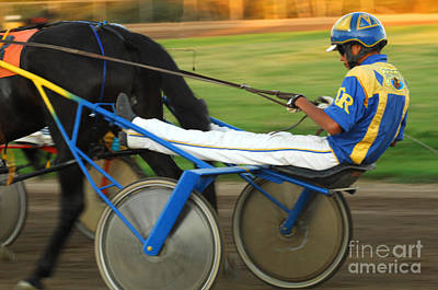 Harness Racing Photograph - Harness Racing 12 by Bob Christopher