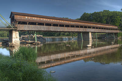 Photograph - Harpersfield Road Bridge Reflection by At Lands End Photography