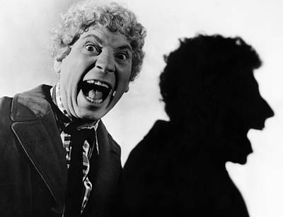Profile Shadow Photograph - Harpo Marx (1888-1964) by Granger