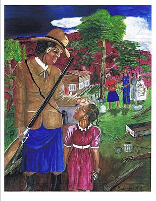 Harriet Tubman Painting - Harriet Tubman-when You're A Little Older by Everna Taylor