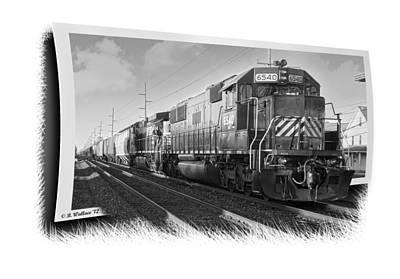 Harrington Train - Grayscale Art Print by Brian Wallace