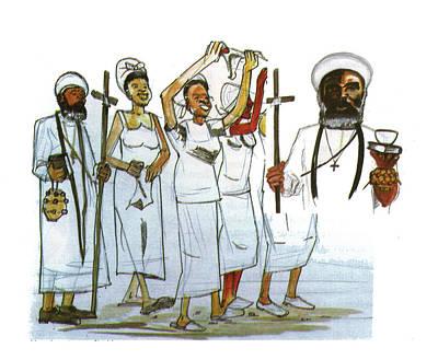 Harris And His Followers Art Print by Emmanuel Baliyanga