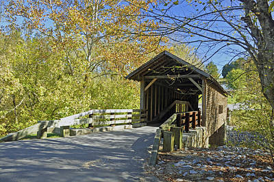Photograph - Harrisburg Covered Bridge by Helen Haw