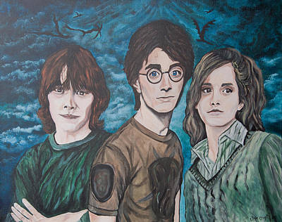 Hermione Painting - Harry And His Crew by Julie Cranfill